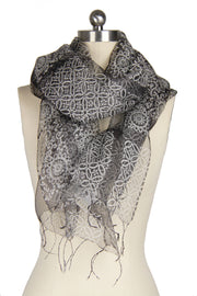 Henna Flowered Silk Scarf