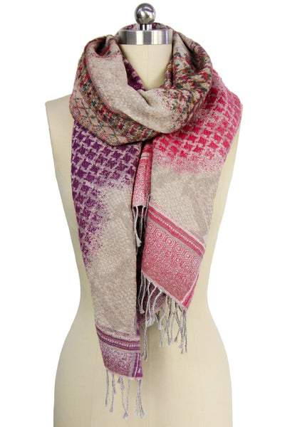 Sand Trio Houndstooth Scarf