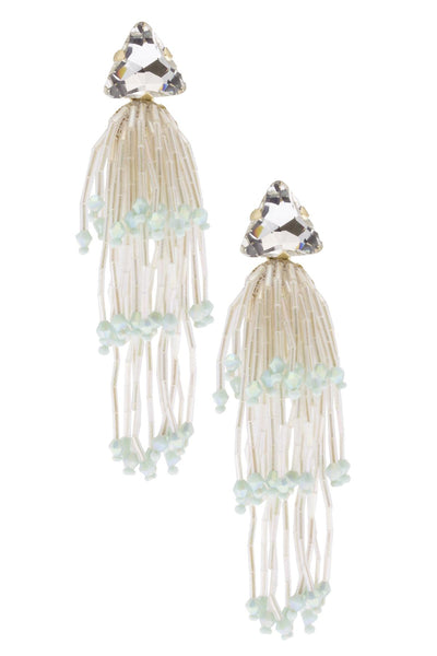 Flash and Light White Crystal Earring
