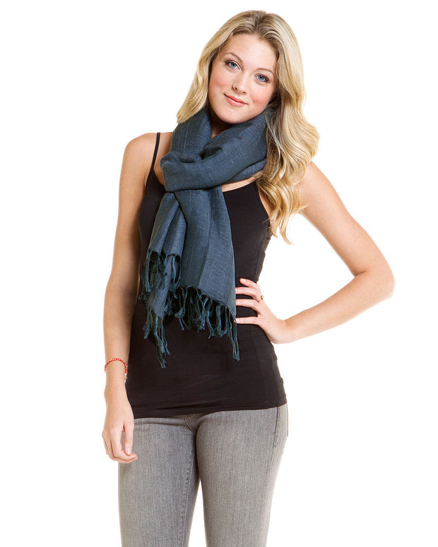 Light Weight Linen Solid Scarf