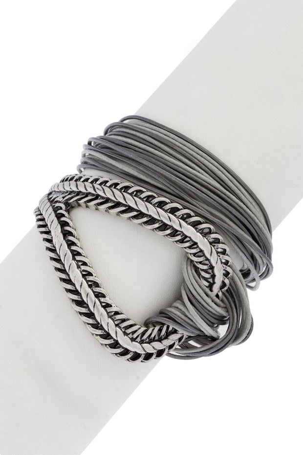 Corded Loop Wrap Bracelet