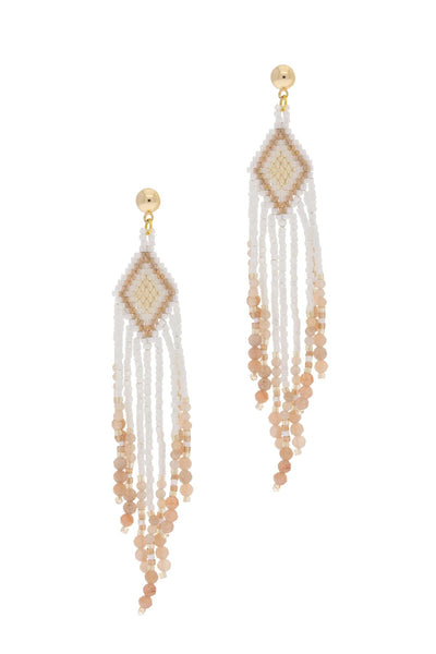 Cavo Beaded Chandelier Drop Earring