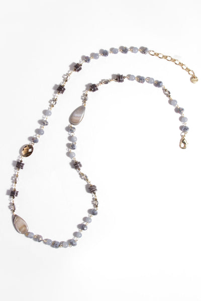 Amalfi Mixed Beads and Pearl Necklace