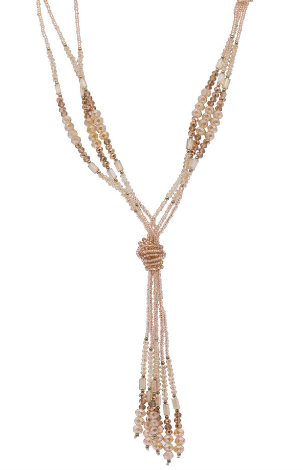 Long Knotted Tassel Necklace