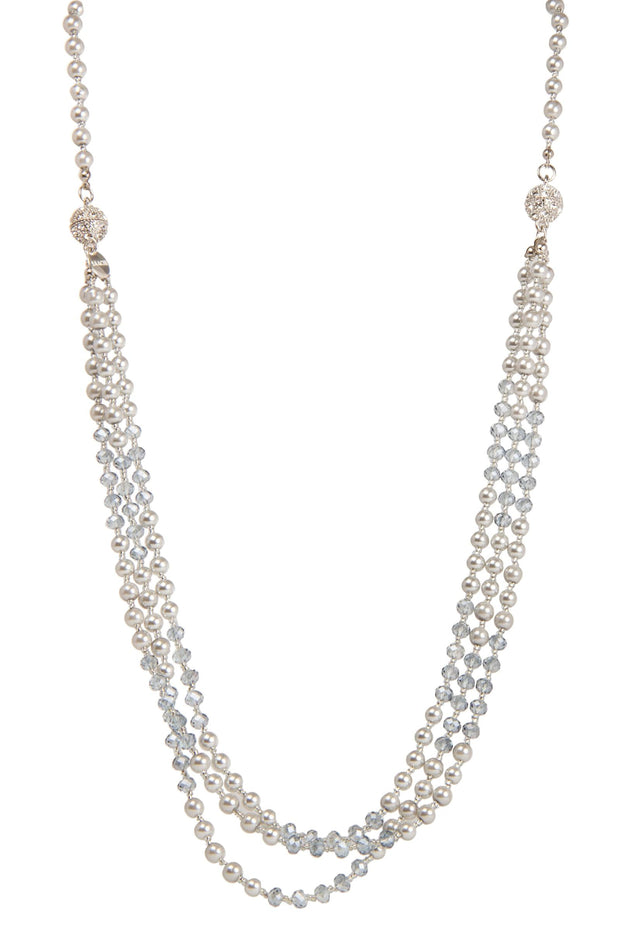 Detachable Crystal Pearl Necklace