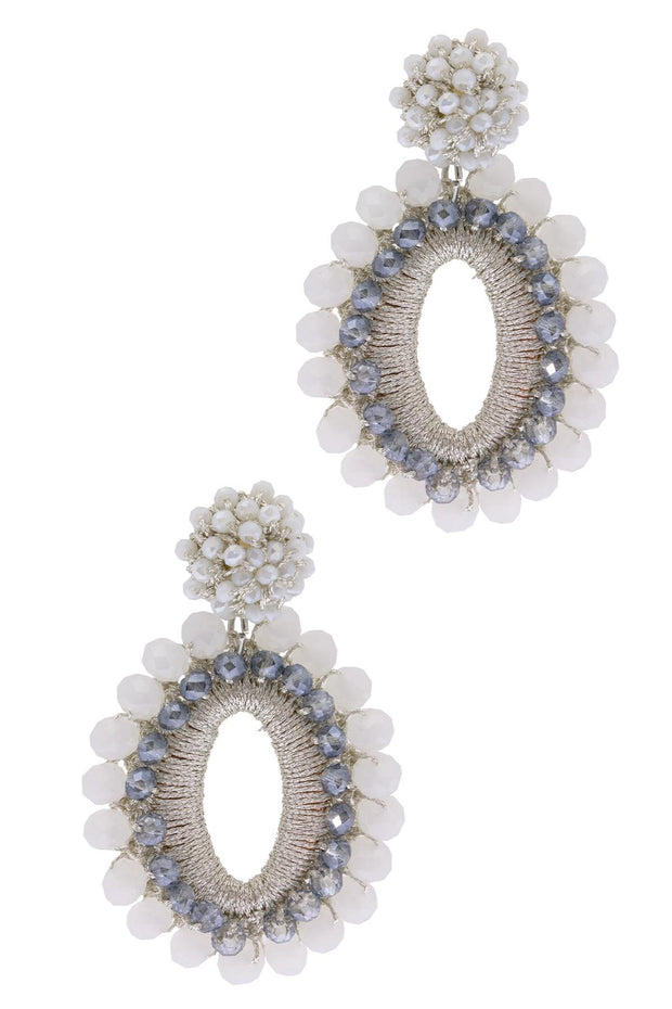 Delhi Beaded Drop Earrings