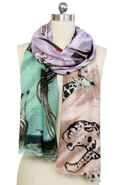 Animals All Over Modal Scarf