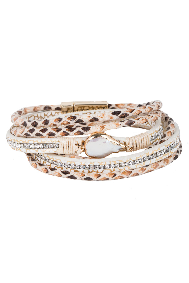 Arabella Wrap Leather Bracelet