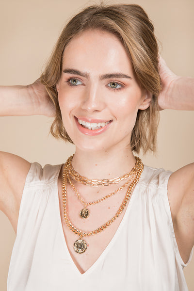 Halfpenny Layered Necklace