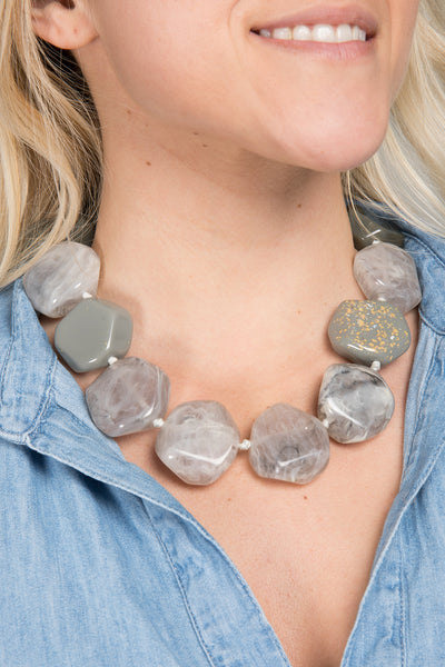 Pebble Collar Necklace