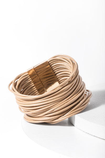 Simple Cord Leather Bracelet