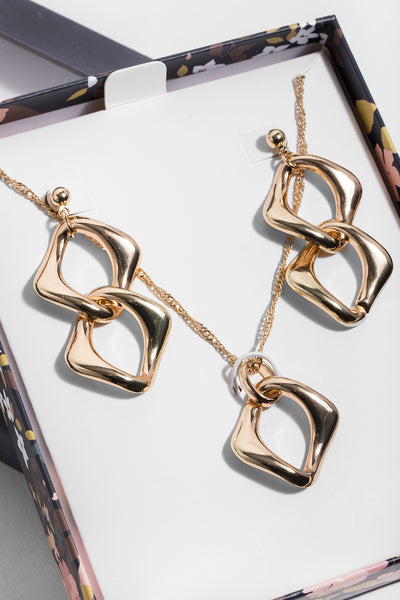 Infinity Necklace and Earring Gift Box