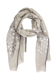 Polka Dot Metallic Scarf