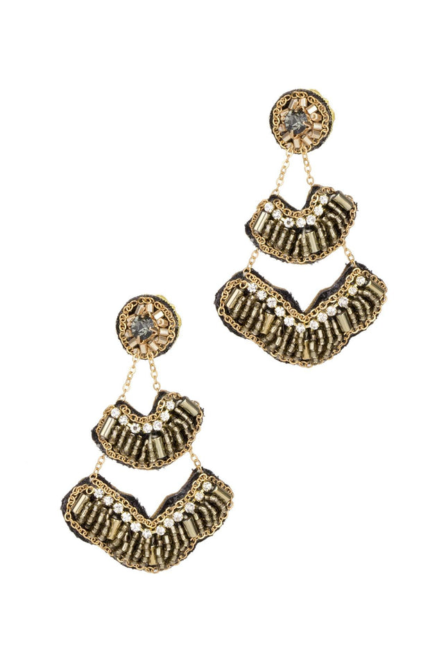 Bronze Chandelier Earring