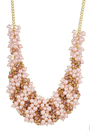 Statement Crystal and Pearl Necklace