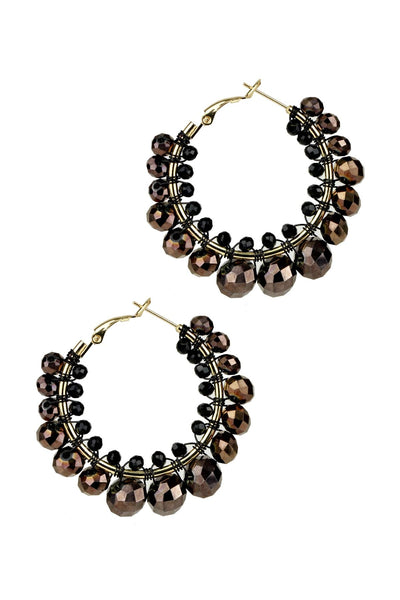 Cluster Beaded Shaam Hoop Earring