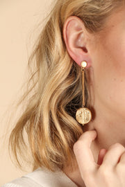 Hard As Nails Linear Dangle Earring