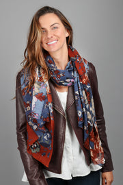All Over Mixed Print Scarf