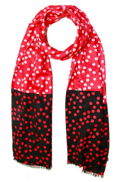 Double Polka Dot Scarf