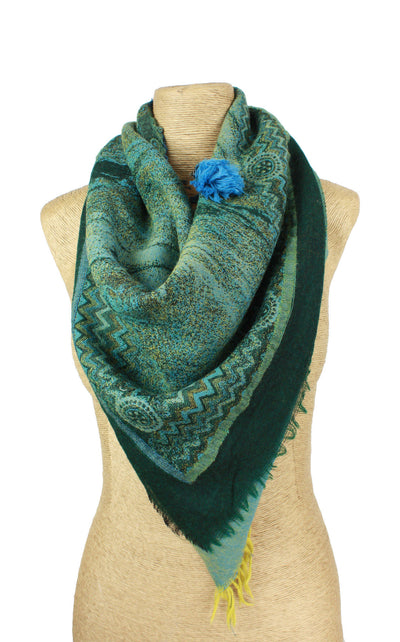 Forest Triangle Wool Scarf