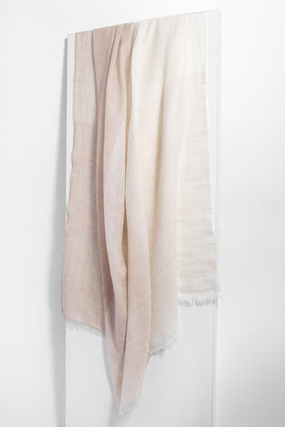 Ivory Taupe Colorblock Scarf