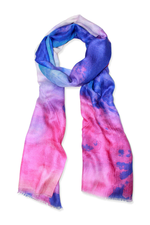 Watercolor Oblong Modal Scarf