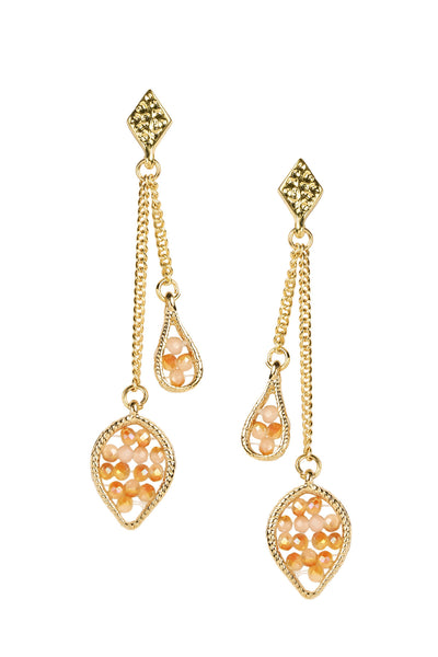 Crystal Beads Dangle Earring