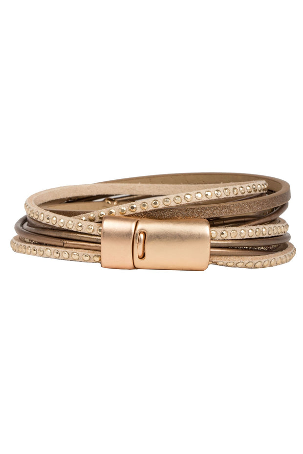 Segovia Double Wrap Leather Bracelet