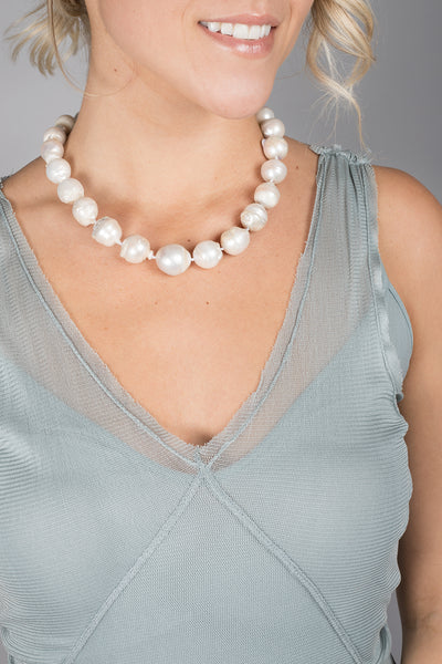 Baroque Genuine Pearl Collar Necklace