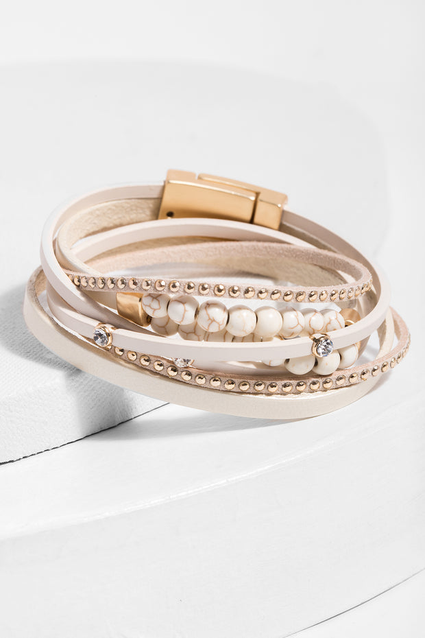 Belmont Wrap Leather Bracelet