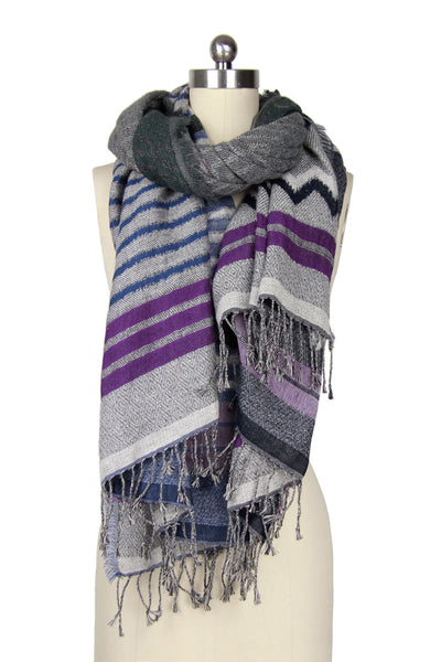 Mix Stripe Block Scarf