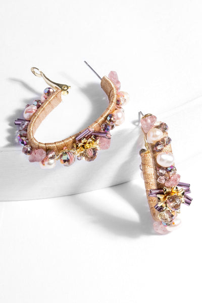 Fisola Beaded Hoop Earring