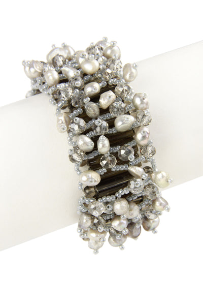 Vanderbilt Pearl Beaded Statement Bracelet