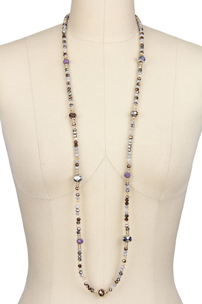 Long Mix Beaded Necklace