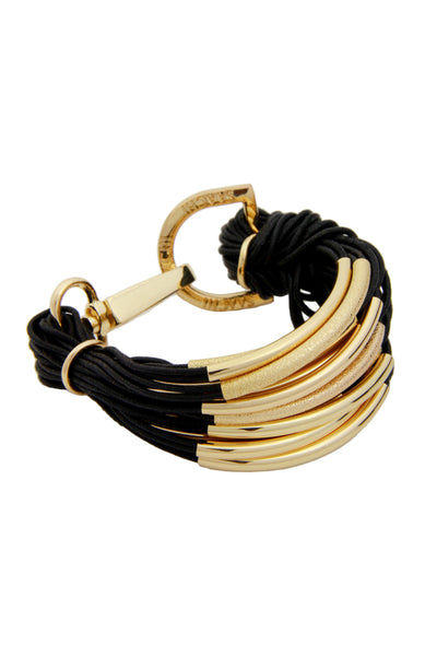 C String Gold Tube Bracelet