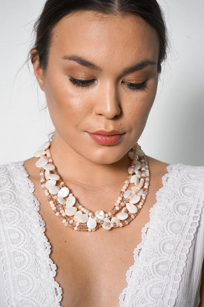Cherai Multi Strand Pearl Necklace