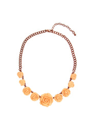 Rose Petal Statement Necklace