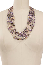 Amethyst Dreams Beaded Layered