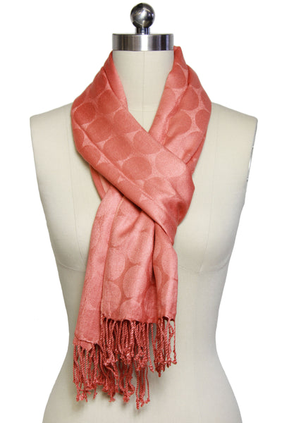 Circle Jacquard Oblong Scarf