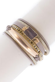 Curved Leather Bracelet