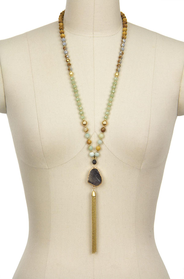 Perfect Beaded Tassel Necklace