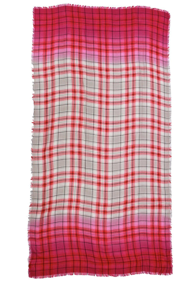 Queens Plaid Ombre Scarf