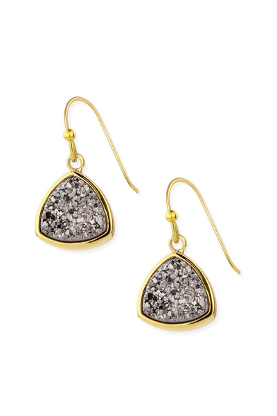 Triangle Dangle Druzy Earring
