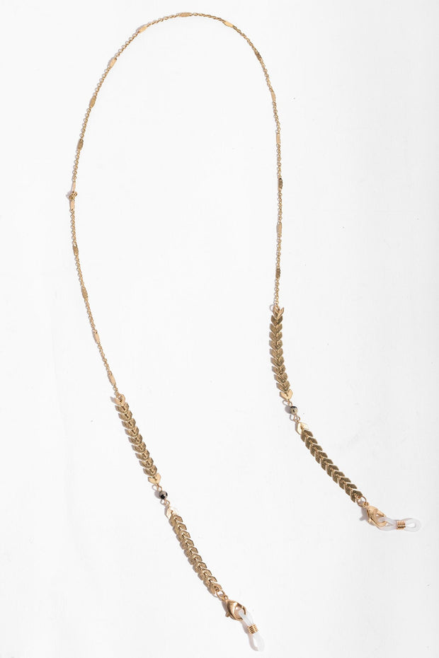 Gold Convertible Eyeglass and Mask Chain