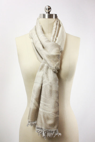 Obi Waves Wheat Cream Scarf