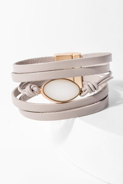 Perfectly Lovely Leather Bracelet
