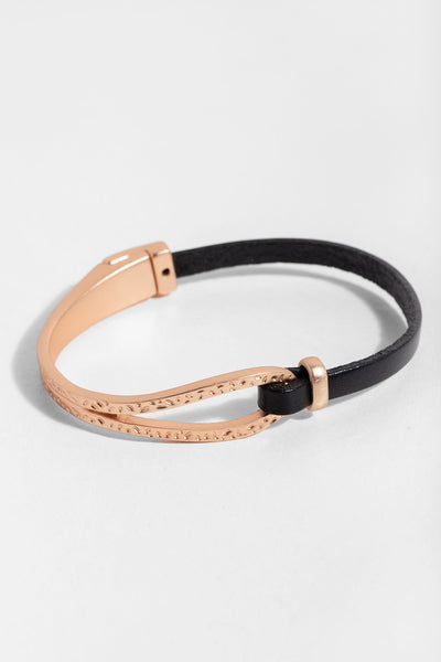 Skinny Loop Leather Bracelet