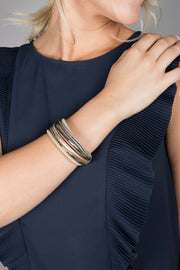 Sophisticated Layered Strand Bracelet