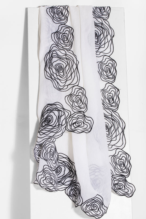 Vero Embroidered Scarf