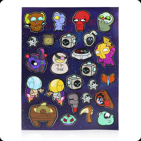 Vinyl Sticker Sheet: Crashlands Characters